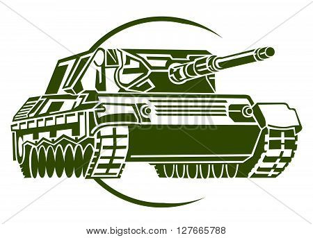 Army Tank .eps10 editable vector illustration design