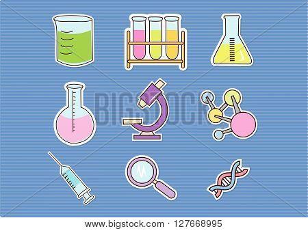 Doodle Bio Technology.eps10 editable vector illustration design