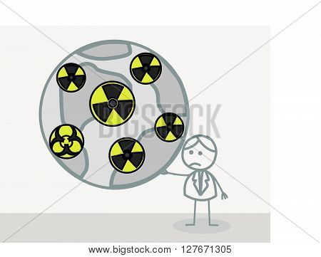 Radioactive World .eps10 editable vector illustration design