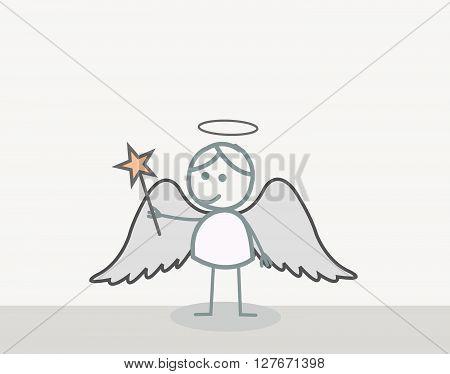 Angel Man .eps10 editable vector illustration design