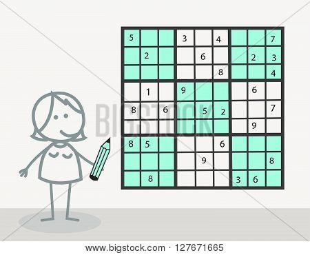 Sudoku illustration .eps10 editable vector illustration design