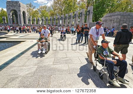 War Veterans At National World War Second Memorial Pacific Arch