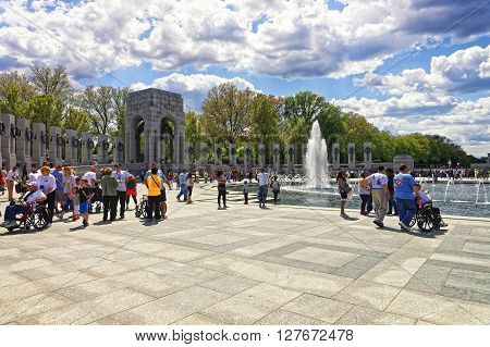 War Veterans In National World War Second Memorial Pacific Arch