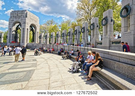 War Veterans In National World War Two Memorial Pacific