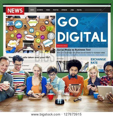 Go Digital Technology Internet Network Concept