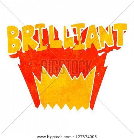 brilliant freehand drawn retro cartoon word