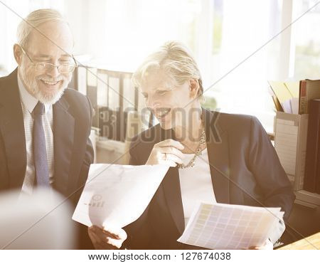 Business People Meeting Discussion Working Office Concept