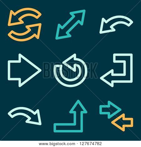 Arrows icons, next step vector web sign. Go icon flat. Design mobile icon, vector pictogram,  infographics symbols