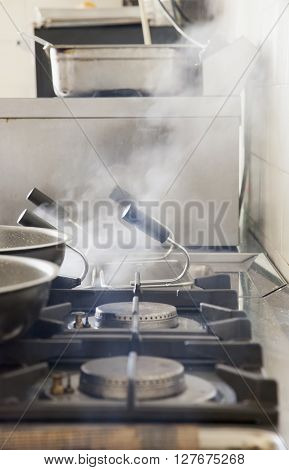 Kitchen With Smoke
