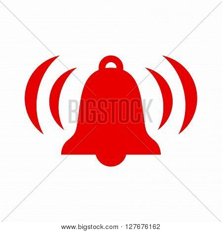 Ringing bell icon, symbol for bell, reminder and notifiaction