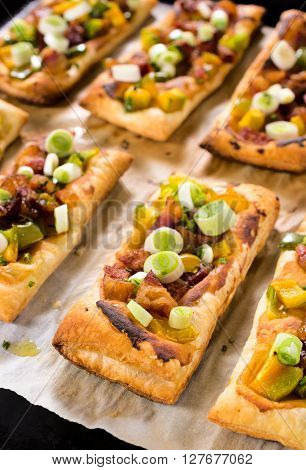 Pastry With Bacon And Vegetables