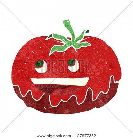 freehand drawn retro cartoon tomato