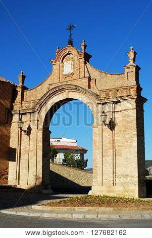 View through Granada gate Antequera Malaga Province Andalucia Spain Western Europe.