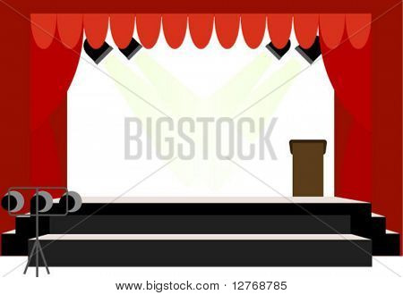 School Center Stage - Vector (no transparencies)