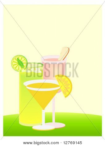 Summer Drinks - Separate Items - Vector