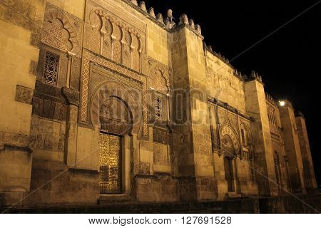 Doors of the mosque in Cordoba - Spain.