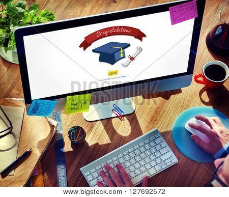 Graduation Knowledge Success Education Concept