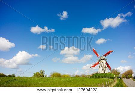 Windmill, Damme, Belgium