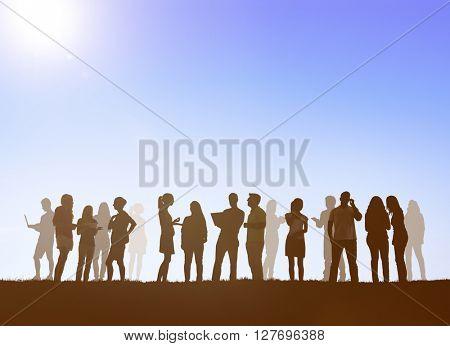 Diverse Ethnic Community Connection Corporate Concept