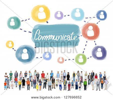 Communicate Connection Conversation Discussion Concept