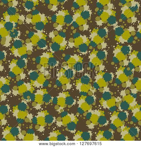Camouflage fabric from stains and paint stains.Seamless pattern