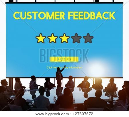 Customre Feedback Comment Vote Review Results Concept