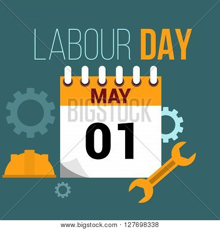 May 1 labour day flat style illustration
