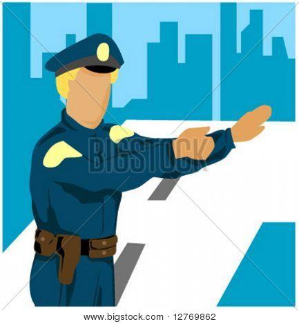Policeman - Vector