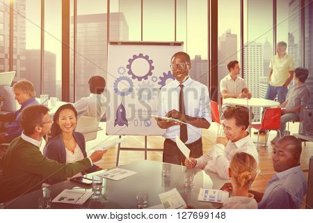 Business People Meeting Conference Speaker Presentation Concept