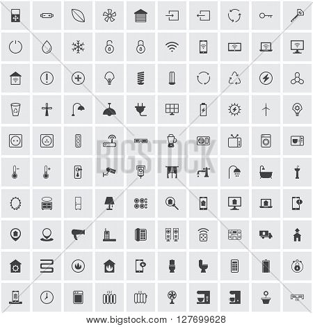 smart home icon, sign symbol set collection group