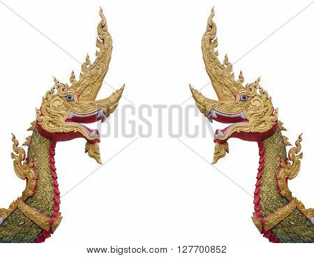 Serpent King Or King Of Naga Statue.