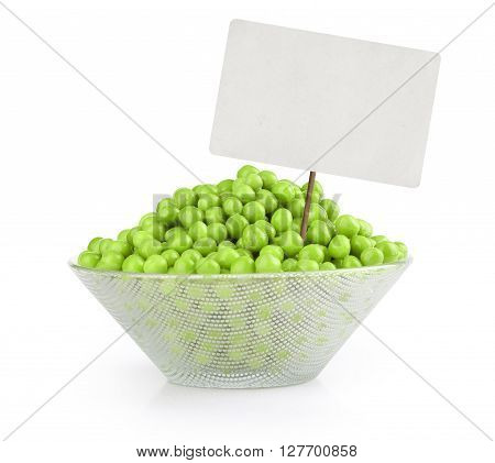 Green Pea With Blank Tag