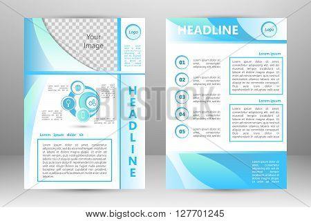 Vector flyer template design. For business brochure leaflet or magazine cover