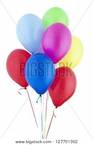 Helium Balloons isolated on a white background