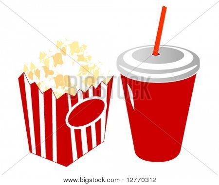 Movie Popcorn and Soda