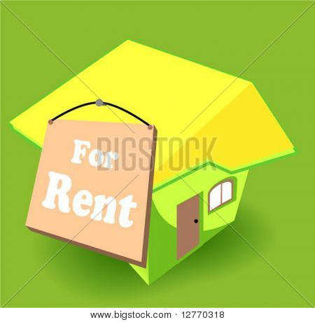 House for Rent Icon - Vector