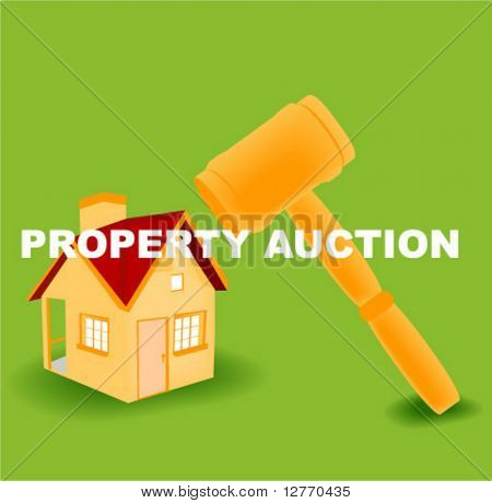 Property Auction Icon - Vector
