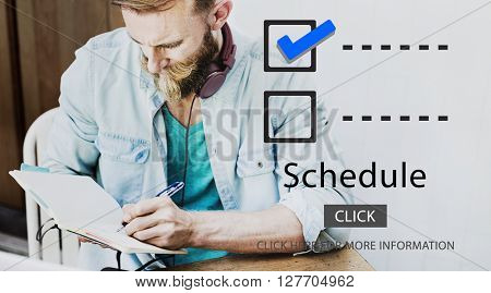 Checklist Schedule To Do Evaluation Concept