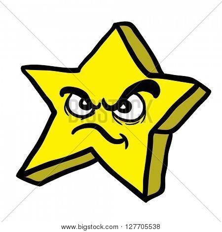 angry star cartoon
