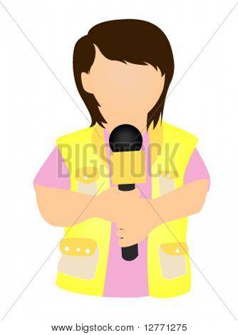 Reporter Icon - Vector