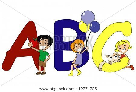 The Alphabet Preschool Series - Vector