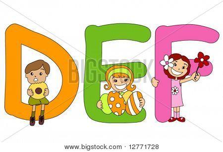 A série pré-escolar do alfabeto - vetor