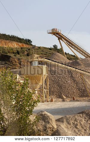 Gravel Extraction Plant treadmills for the sand