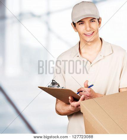 Package Delivering.