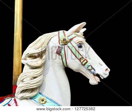 Head Of A Classic Carousel Horse.  Clipping Path