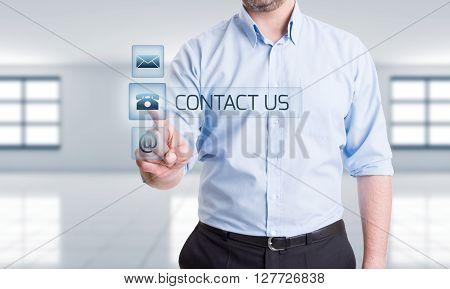 Hitech Contact Us Concept