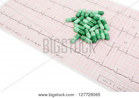 Natural Pills On Printed Ekg