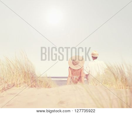 Couple Dating Beach Summer Fun Concept