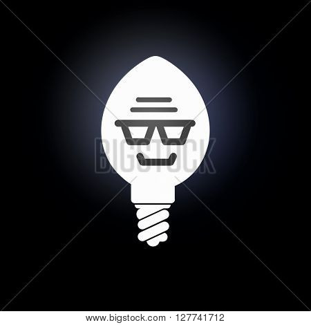 Glowing bulb icon