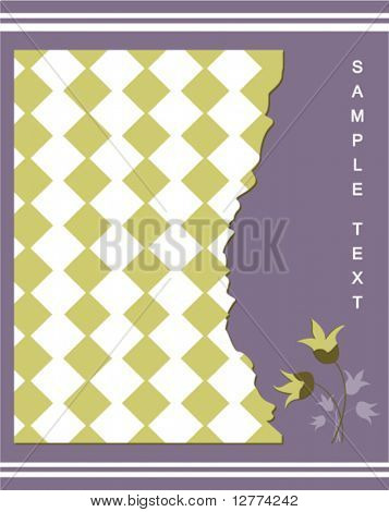 Scrapbooking Background Design - Vector